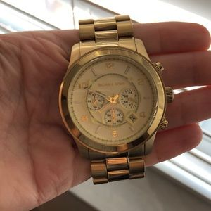 Authentic Michael Korda large watch gold